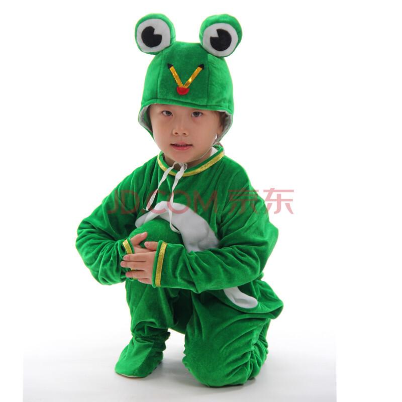 儿童动物服装小蝌蚪找青蛙妈妈鸡鸭鹅表演服饰幼儿节目演出服 长袖