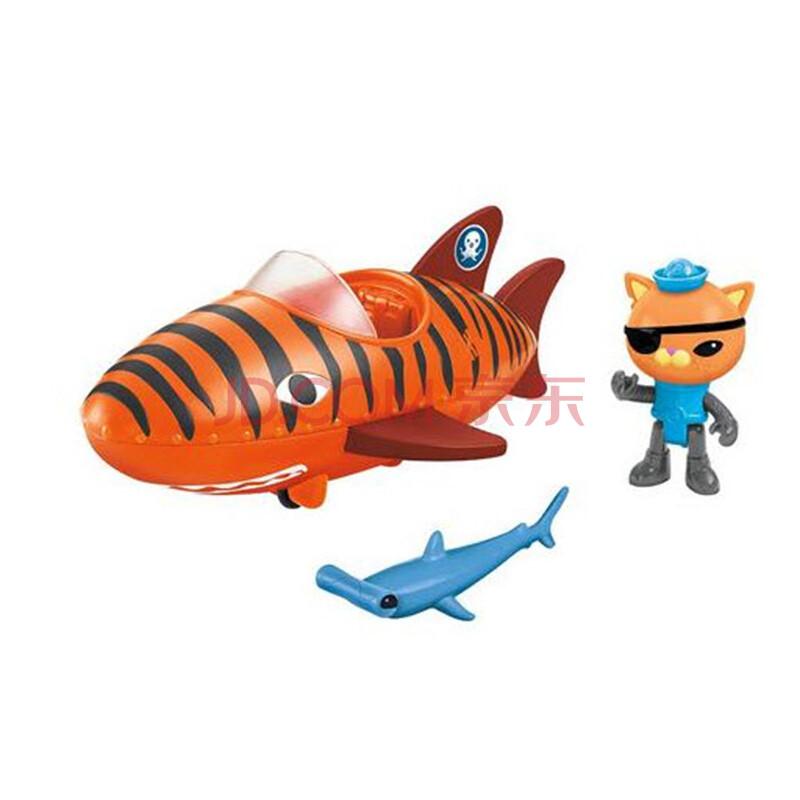 费雪海底小纵队玩具套装章鱼堡皮医生巴克队长公仔儿童玩具 发声虎鲨