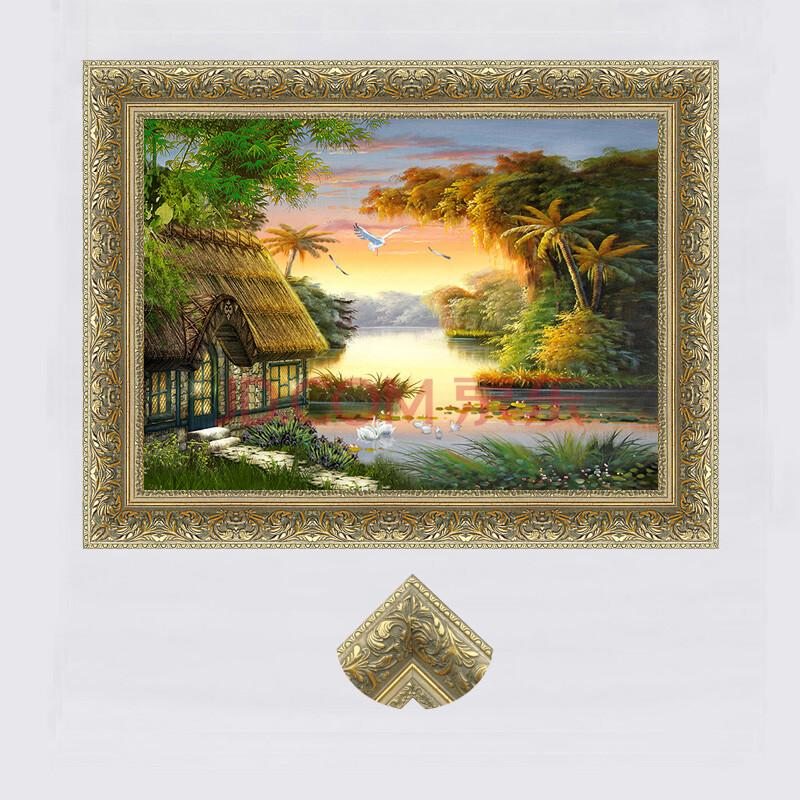 香汇油画 欧式客厅装饰画 单幅天鹅油画 卧室壁画 挂画餐厅玄关田园图片