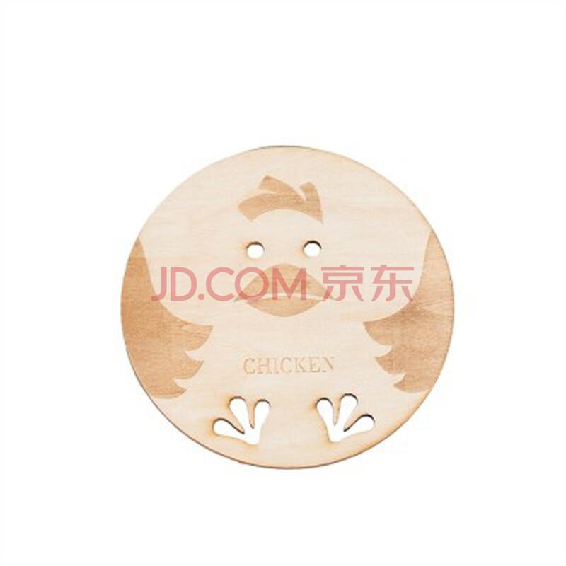创意中国风圆形立体镂空木质杯垫餐垫隔热垫可爱动物