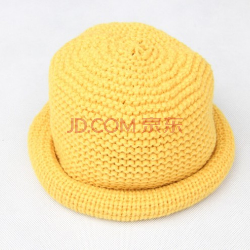 2015秋冬季新款帽子 男女宝宝纯色毛线小礼帽 儿童可爱针织帽盆帽