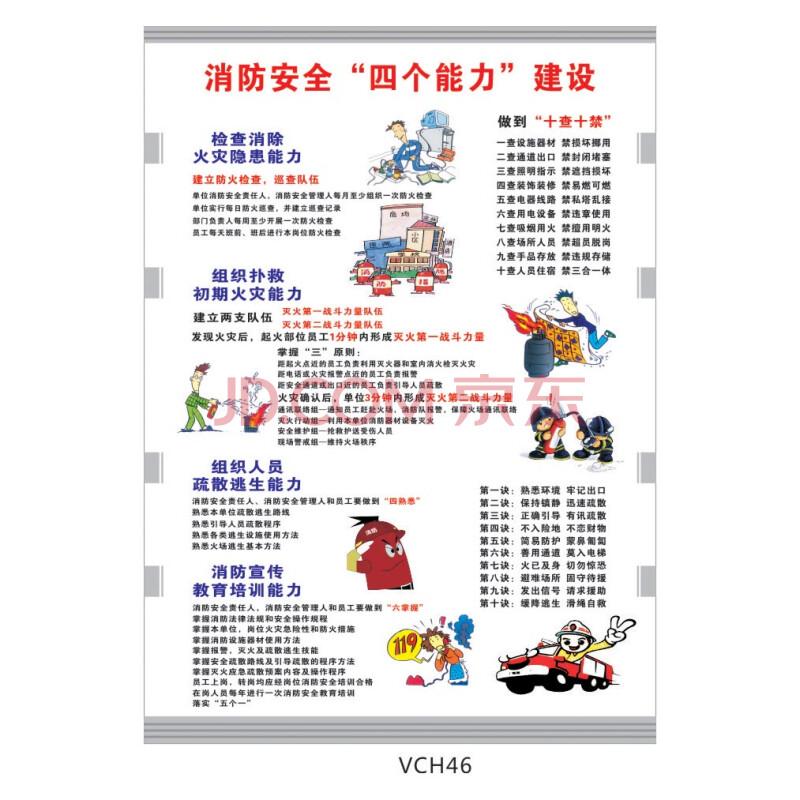消防安全海报挂图宣传画