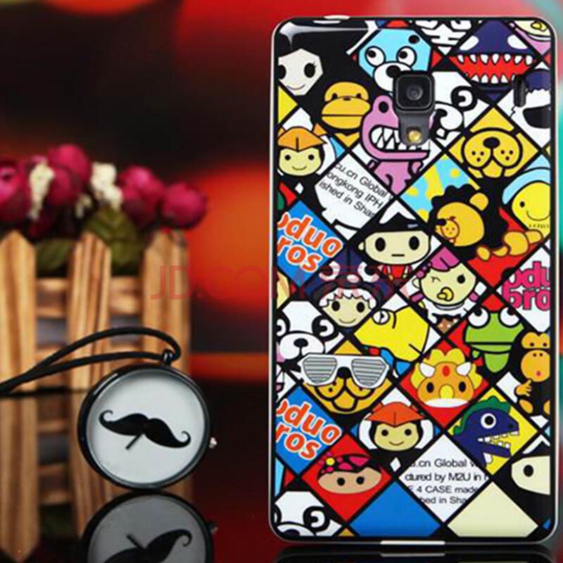 红米1s手机套 红米1s保护外壳防摔卡通硅胶套 适用于红米1s 动物世界