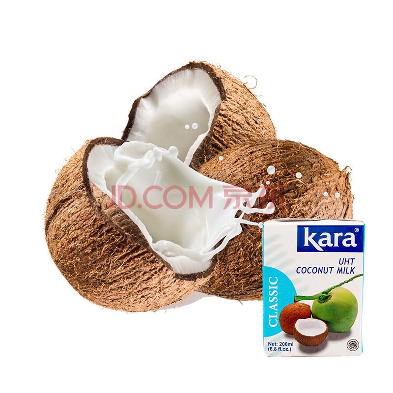 kara佳乐椰浆 椰奶 椰汁 椰蓉 西米露材料甜品 印尼原装进口 调味品 烘焙原料 200ml