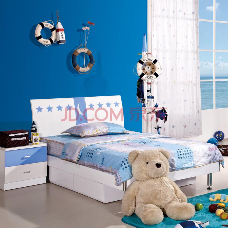 童乐岛儿童家具男孩床板式单层床现代简约儿童床套