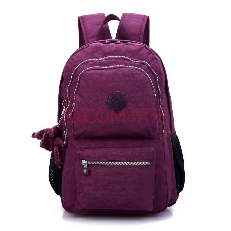 跑酷 女士休闲时尚水洗布双肩包背包旅行包书包(送猴子挂件)s5jp图片