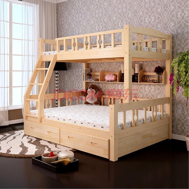 北欧童话儿童床实木上下铺双层床