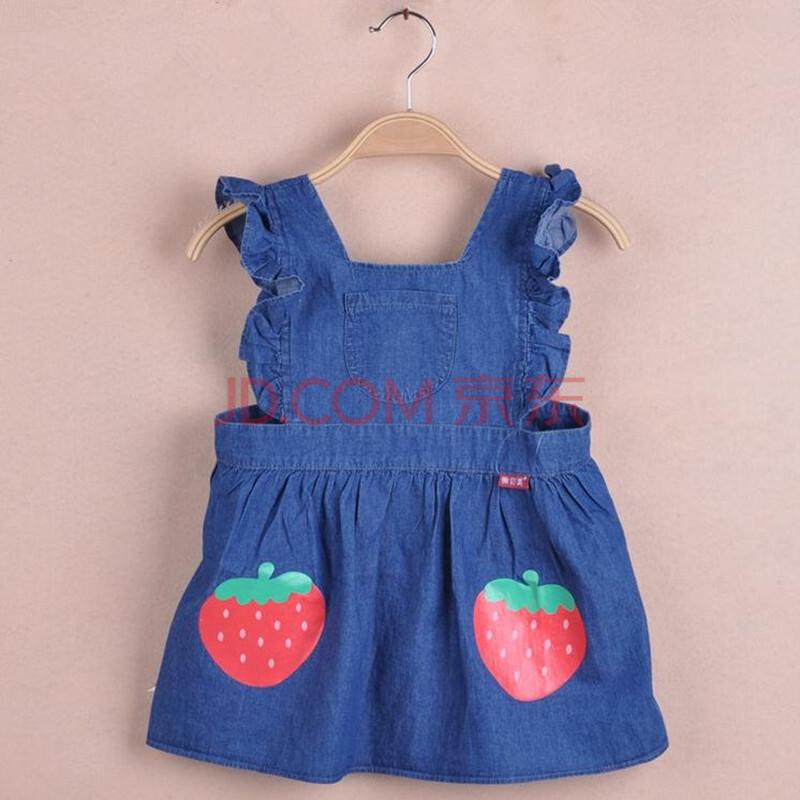 裙子式饭衣儿童围裙婴幼儿围兜小孩子画画衣草莓9001