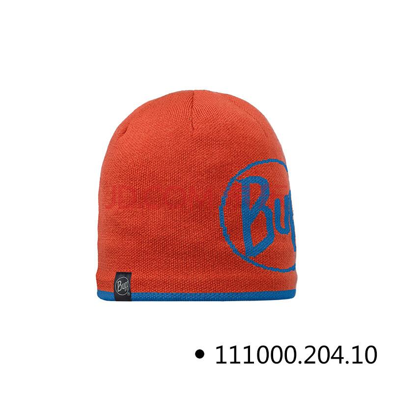 buff户外秋冬保暖帽防寒防风针织帽子抓绒头套帽子 橙色-logo 均码