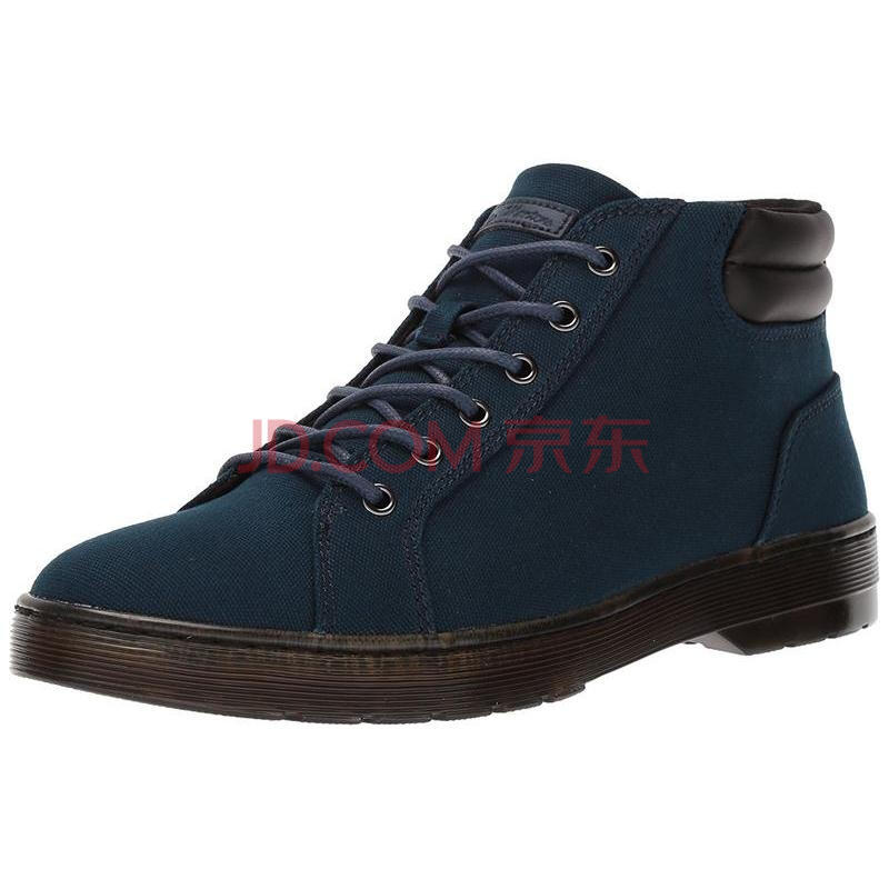 马汀博士Dr. Martens Plaza Fashion 男子欧美时尚男靴 Navy Canvas 标准39/US7
