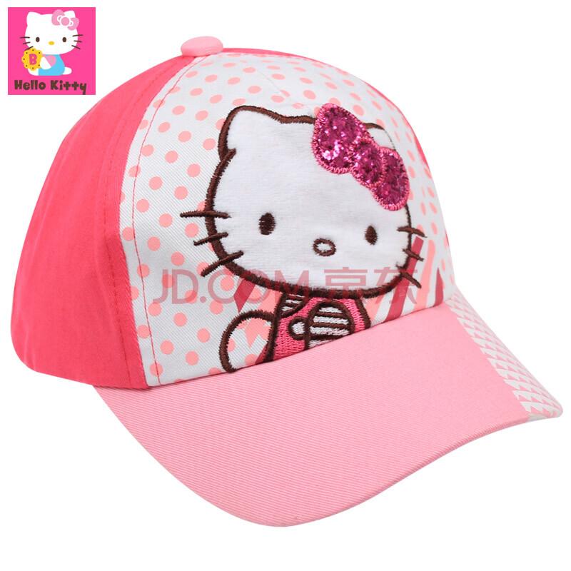 hellokitty凯蒂猫儿童帽子女童棒球帽纯棉宝宝鸭舌帽春夏小孩遮阳运动