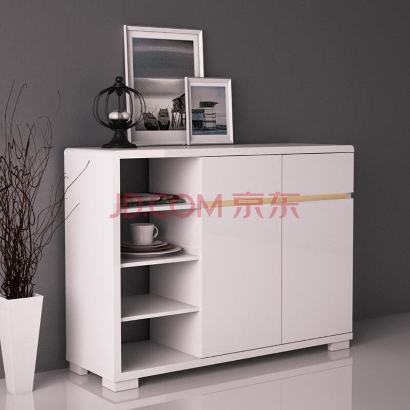 白立方elegant art现代简约客厅餐边柜 多功能高光钢琴漆碗碟柜茶水柜