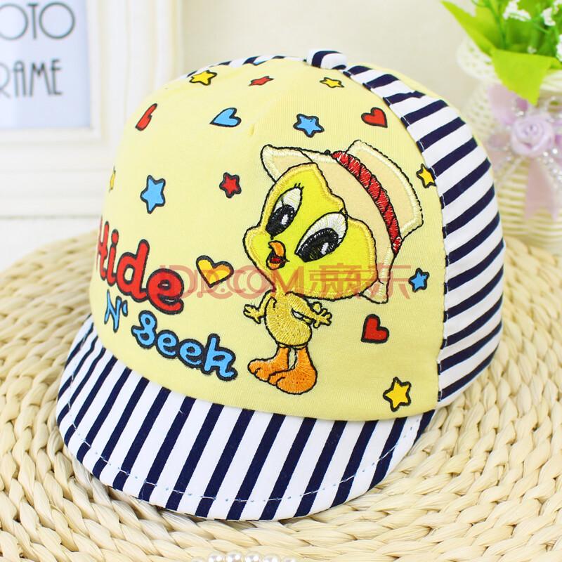 春秋韩国童帽宝宝帽子夏 儿童遮阳帽婴儿鸭舌帽 婴儿太阳帽男女童
