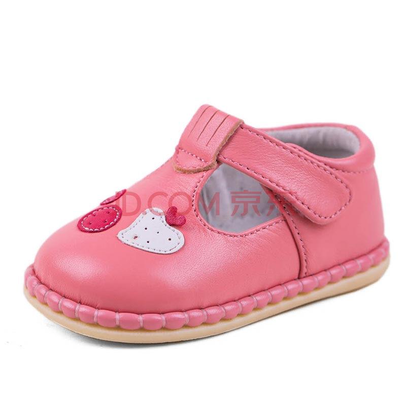 斯纳菲童鞋春秋款宝宝学步鞋牛皮可爱公主鞋 宝宝鞋子