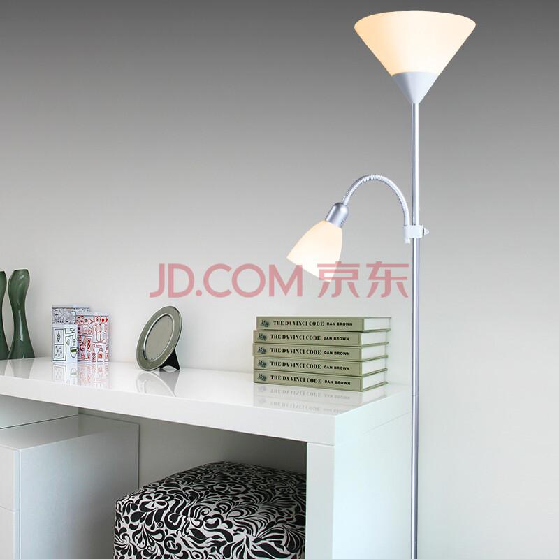 酷丰(kufeng)落地灯卧室简约现代书房客厅灯具两用欧式子母灯办公学习