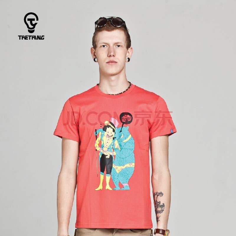 thething2014新款夏设计潮牌男士短袖t恤纯棉创意个性
