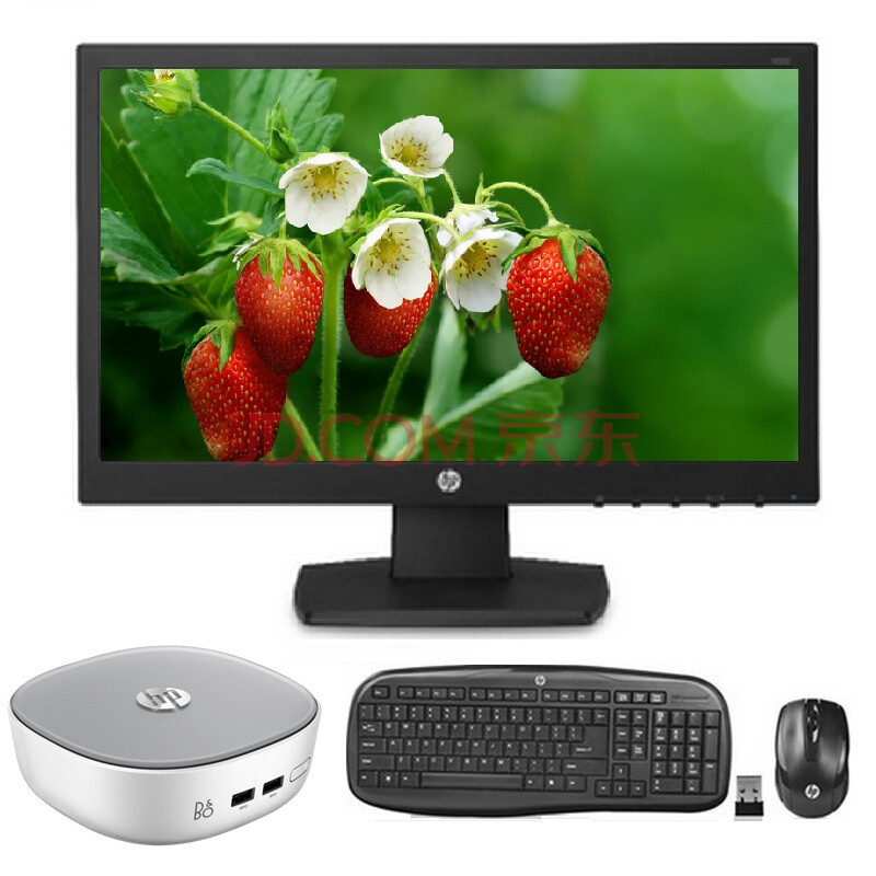 惠普(hp)小叮当300-238cn 台式电脑 i3-5005u/4g/500g/无线键鼠 主机图片