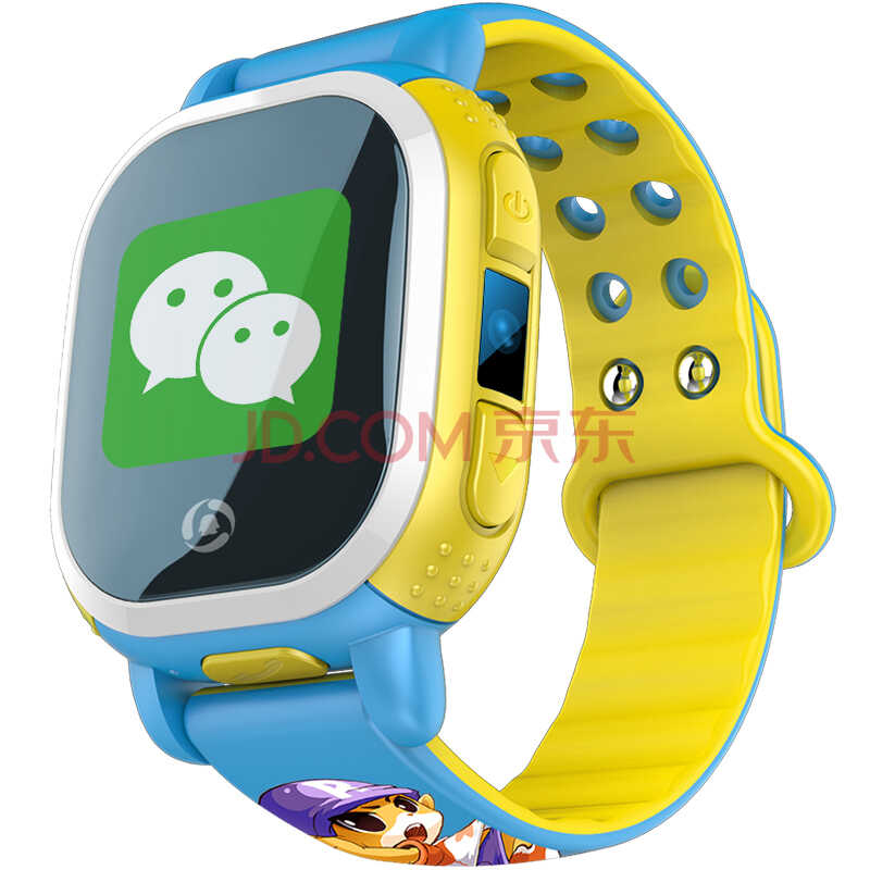 腾讯儿童 电话手表(蓝色) 智能手表可拍照定位通话 学生儿童防丢失电话手环手机)