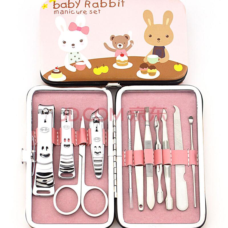 hardaway 指甲剪套装 修甲工具 11件套 不锈钢指甲钳 可爱兔子