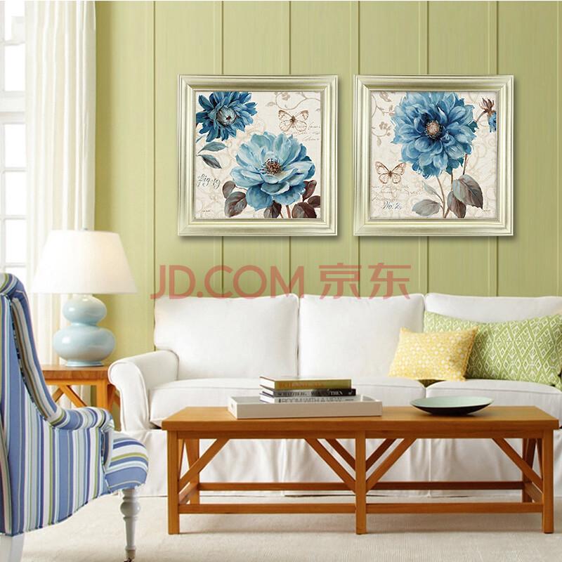 法式田园风格挂画 美式花鸟蝴蝶装饰画 欧式婚房卧室床头餐厅挂画图片