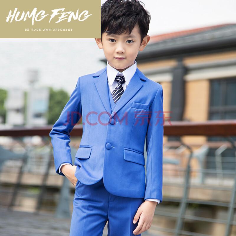 feng品牌儿童西装男童小西服套装韩版修身春夏男花童礼服舞台走秀主持图片