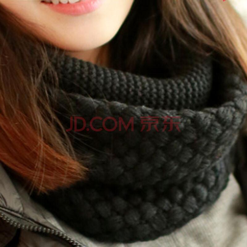 韩版新款秋冬季 毛线围巾套头围脖女生冬天脖套韩国加厚保暖学生围巾