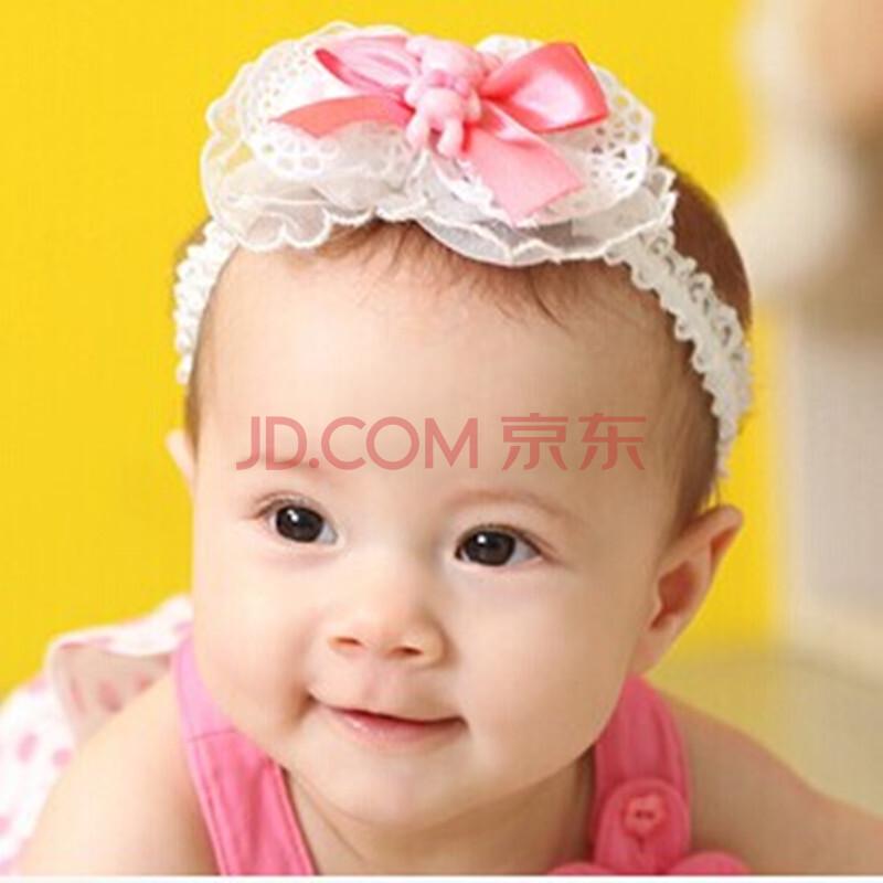 韩国头饰婴儿发饰蕾丝儿童头带发箍发卡公主拍照头花假发套 儿童配饰