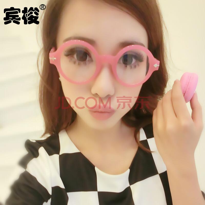 阿拉蕾女款潮流非主流装饰复古圆眼镜框女无镜片可爱近视圆眼镜架