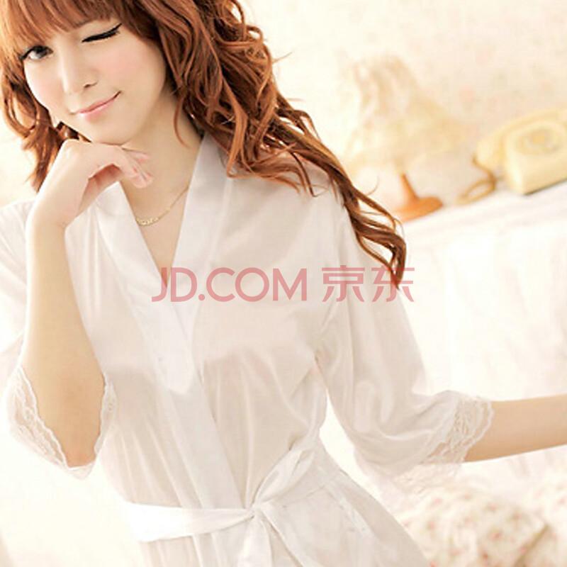 情趣内衣位置v位置女式蕾丝透明套装花边制服睡袍睡衣风白色性感和服情趣用品长沙图片