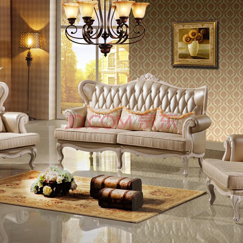 班固家具法式沙发欧式沙发实木美式古典沙发小户型真皮沙发客厅家具图片
