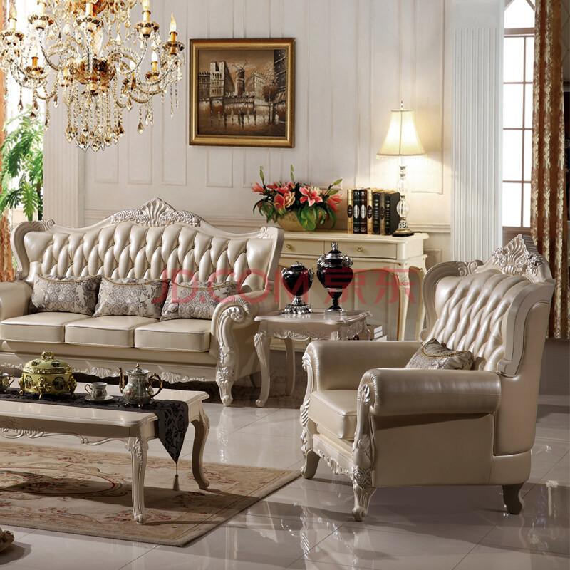 班固家具真皮沙发欧式法式沙发美式古典全实木客厅家具022-a 单人位图片