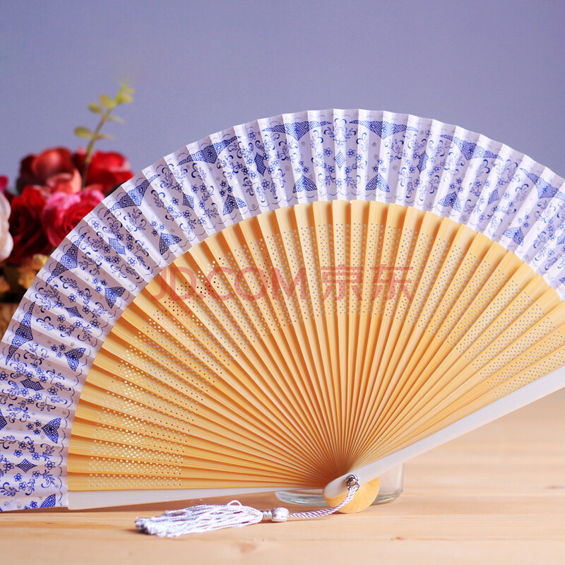 青花瓷扇子烤漆柄