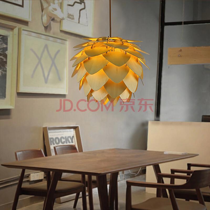 尚人居 创意水曲柳实木艺术吊灯 北欧服装店餐厅吧台吊灯 d-8658 大号