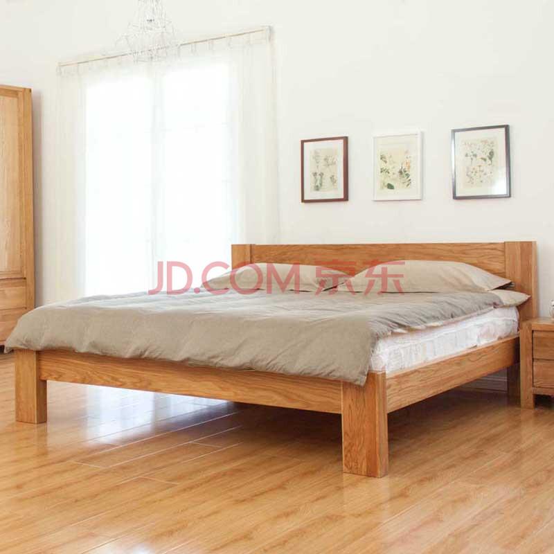 卧室家具 床 欧尚华庭 纯实木床进口白橡木双人床1.5/1.图片