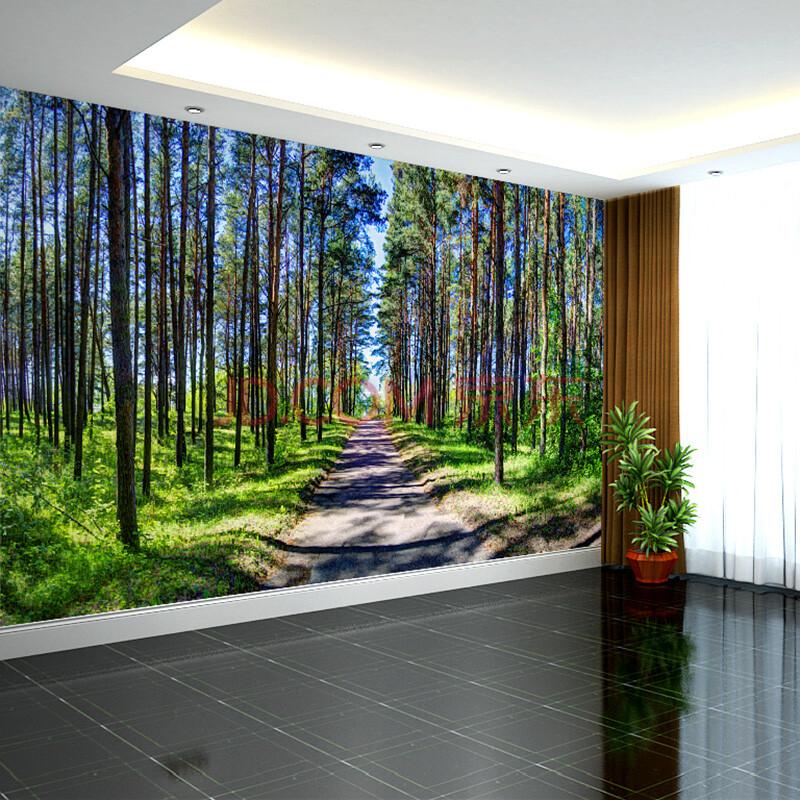 塞拉维风景壁画定做 现代简约沙发卧室床头背景墙布壁纸影视墙画布