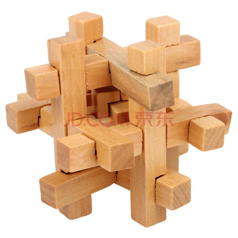 汇乐宝儿 成人儿童木制解锁智力玩具孔明锁鲁班锁桌游 八角球 锁中锁