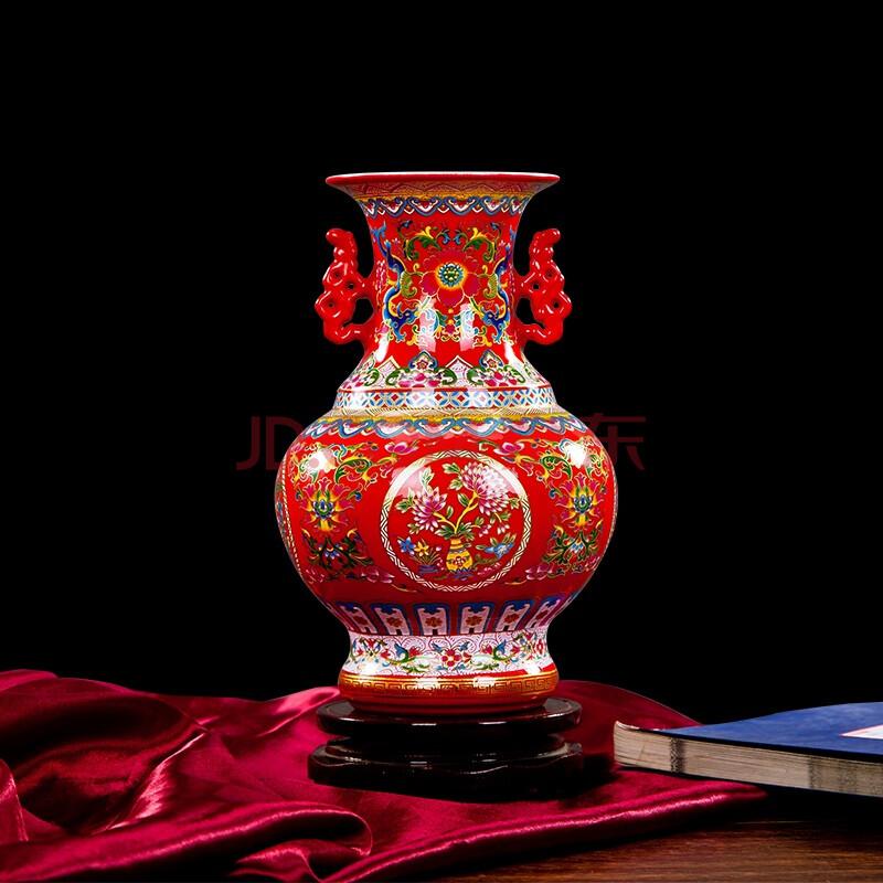 景德镇陶瓷器欧式小花瓶摆件客厅书房装饰品家居摆设