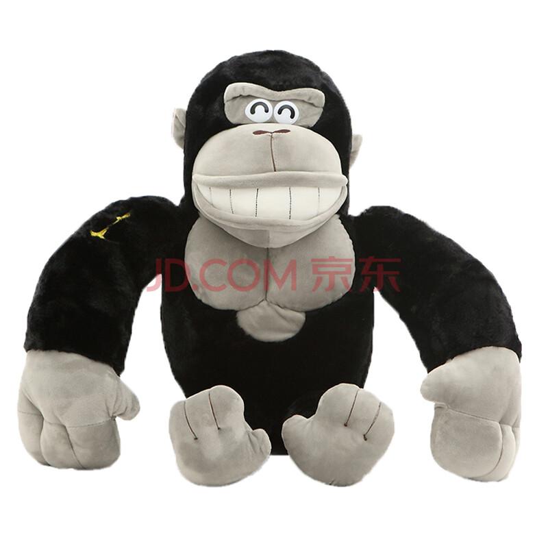 可爱仿真金刚大猩猩公仔毛绒玩具猴子布娃娃抱枕男生生日礼物女生