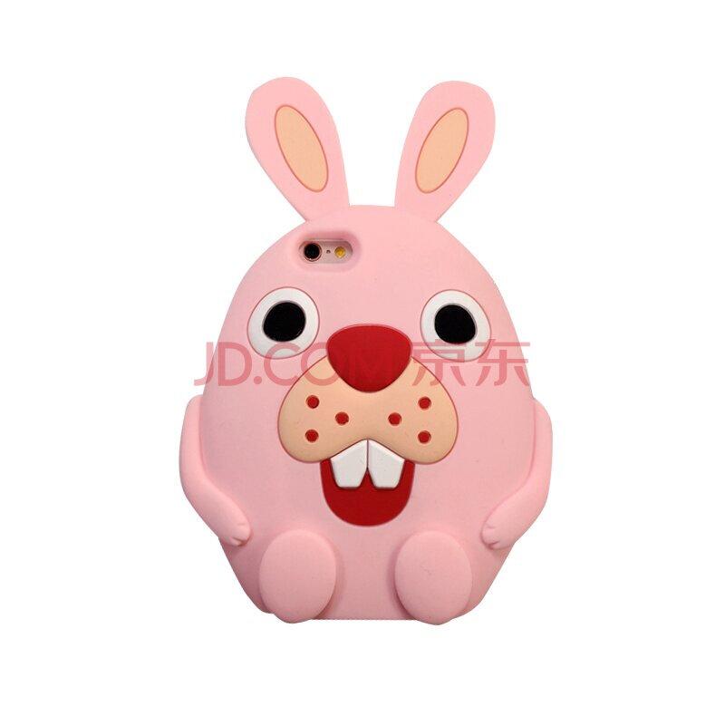 聆听 可爱卡通动漫女生兔子硅胶软壳龅牙兔手机保护套 适用于苹果