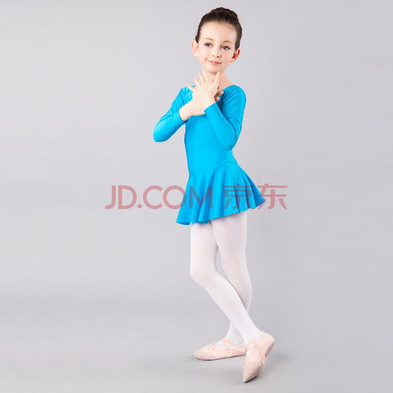 红舞鞋儿童舞蹈服装练功服女童体操服连体少儿芭蕾舞