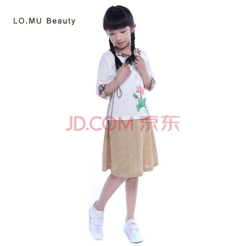 童装传统文化民国风服饰中国风手绘棉麻中