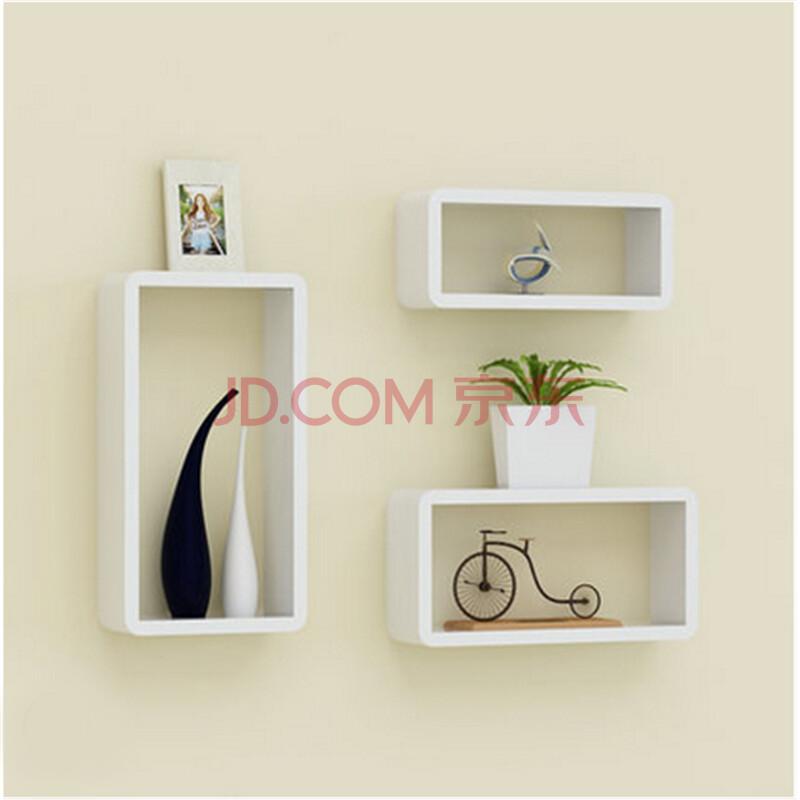 背景墙装饰架墙上隔板搁板墙壁架客厅壁柜卧室墙体格子装饰书架层板图片