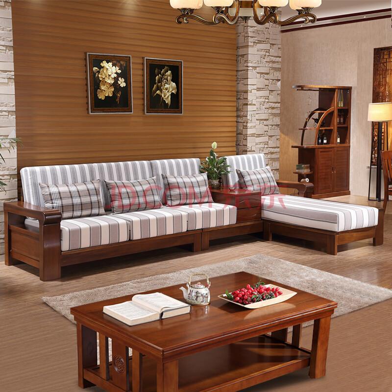 实木沙发 现代中式