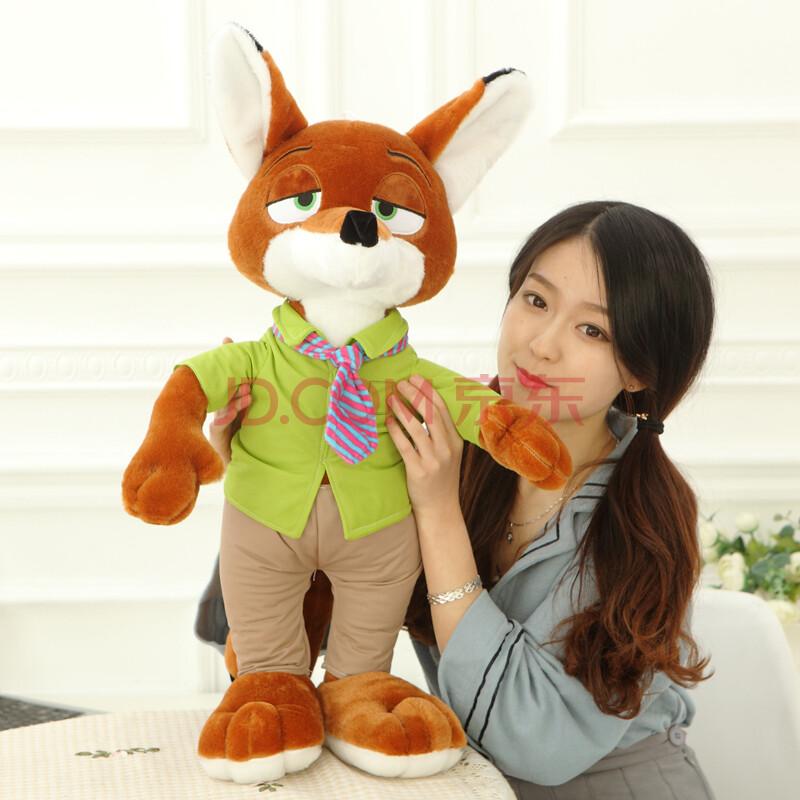疯狂动物城公仔兔子朱迪 狐狸尼克毛绒玩具布娃娃儿童