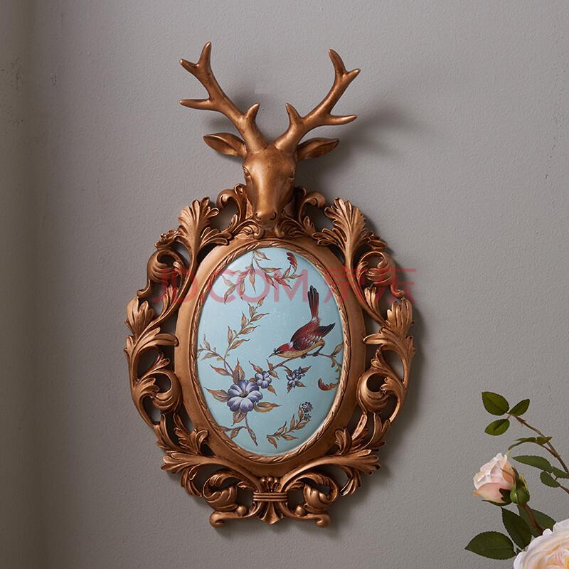 蒂拉欧式复古鹿头壁挂墙壁挂饰装饰品