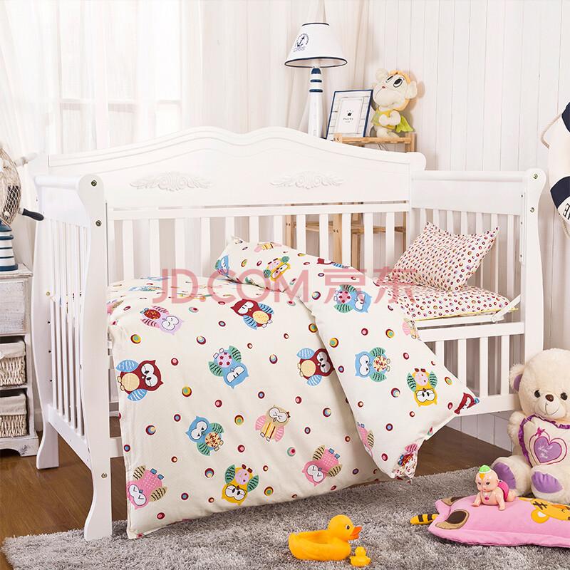 婴幼儿童家纺 幼儿园拎袋式床品三件套 纯棉宝宝被套被罩 枕套 幼儿园