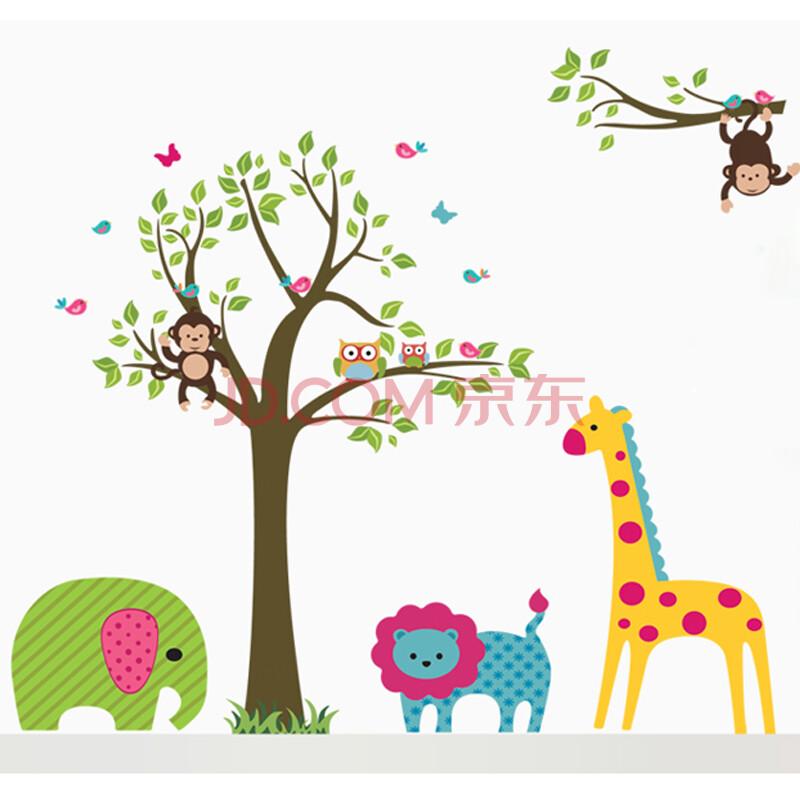 墙贴 墙面装饰贴 卡通墙贴 长劲鹿墙贴 墙面装饰画 儿童房装饰品 02图片