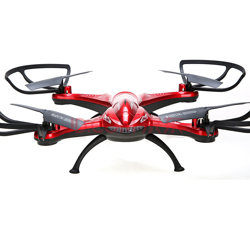 活石 超大遥控飞机四轴飞行器航拍无人机模型玩具 无摄像头(红)
