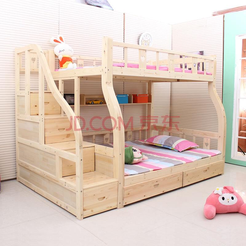 儿童 松木儿童床 高低床