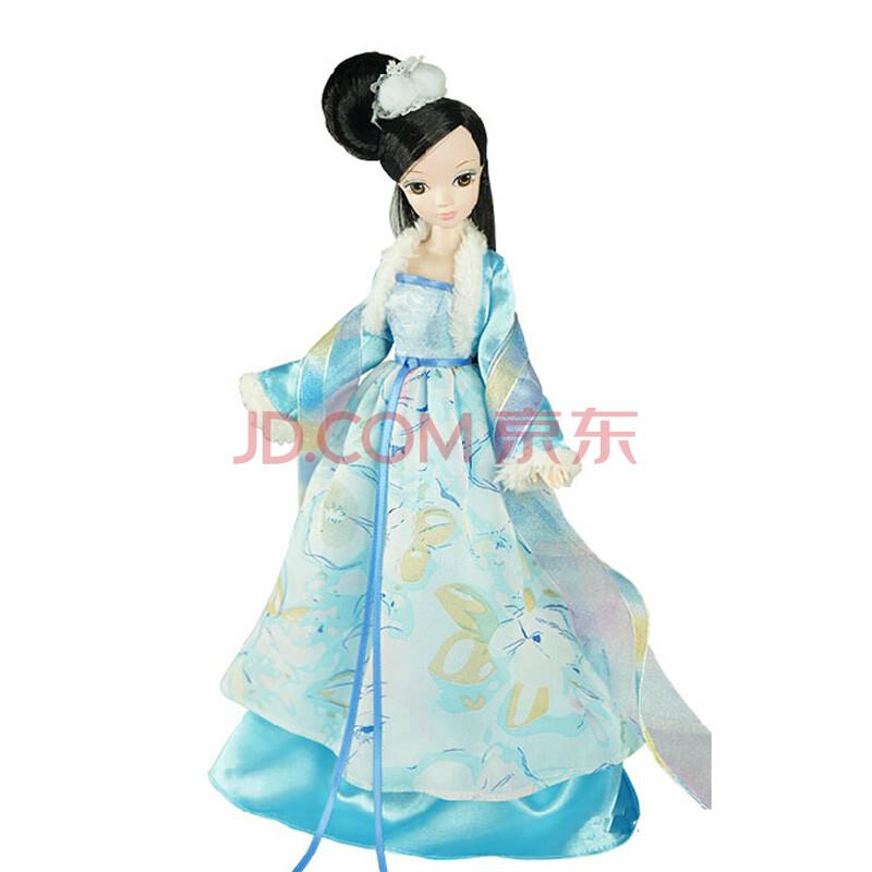 可儿芭比娃娃中国古装新四季仙子巴芘系列套装送支架